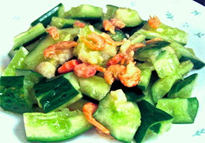 胡瓜と干し海老の中華風和え
